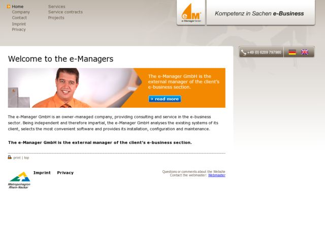 screenshot of E-Manager GmbH