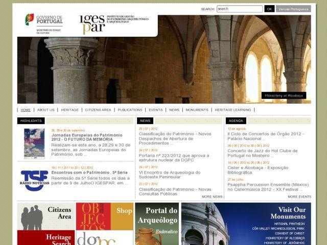screenshot of IGESPAR IP