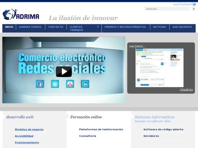 screenshot of Adrima