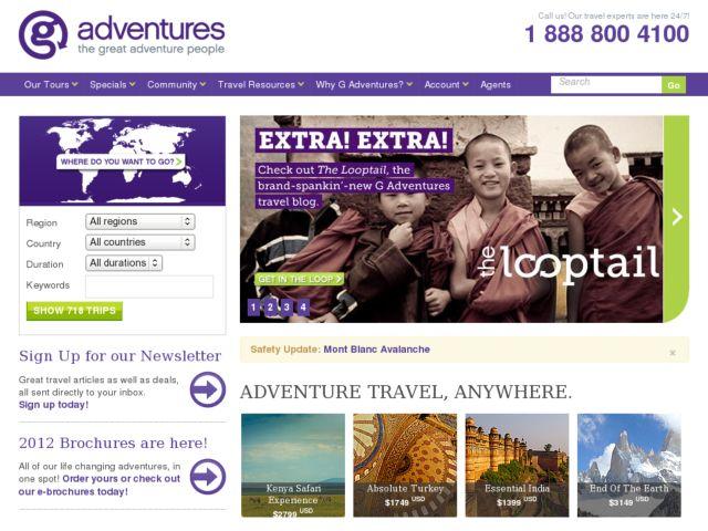 screenshot of Gap Adventures