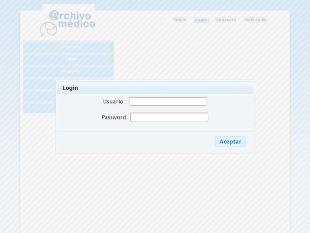 screenshot of archivo-medico