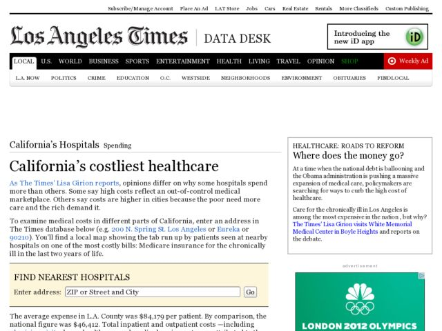 California's Costliest Healthcare