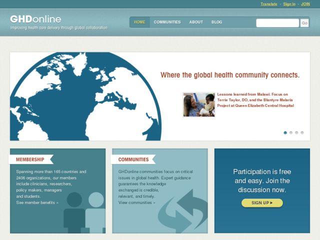 screenshot of GHDonline