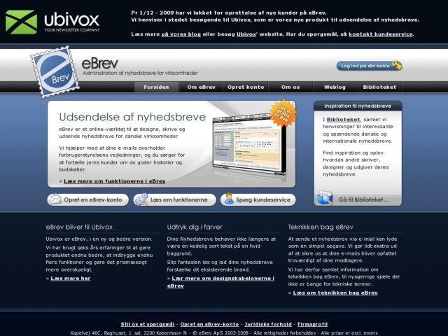 screenshot of eBrev