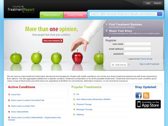 screenshot of TreatmentReport