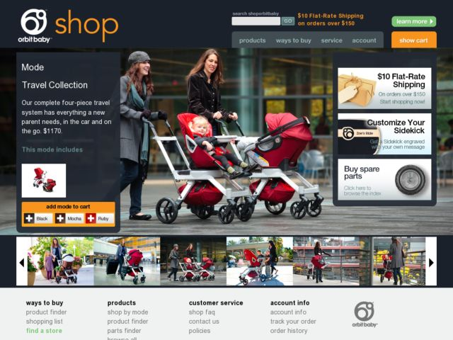 screenshot of Shop Orbit Baby