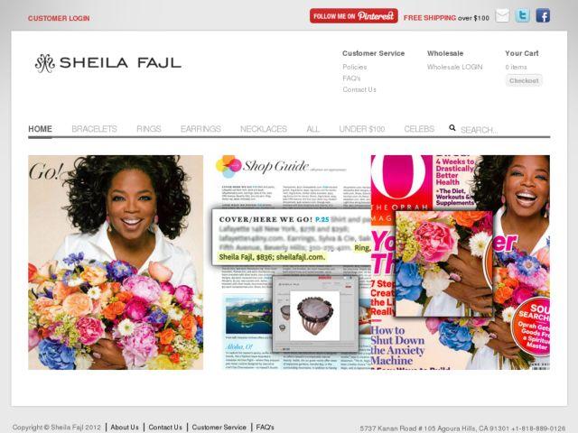screenshot of Sheila Fajl