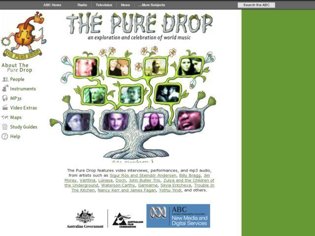 screenshot of The Pure Drop