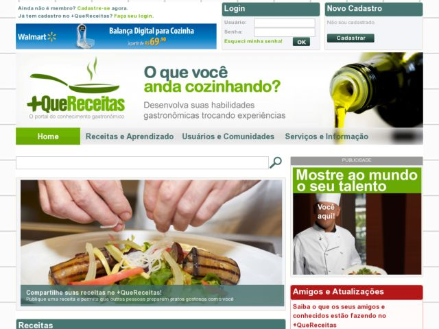 screenshot of +QueReceitas