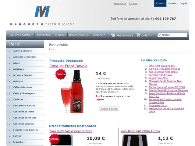 screenshot of Marquez Shop