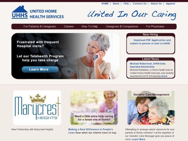 screenshot of UHHS