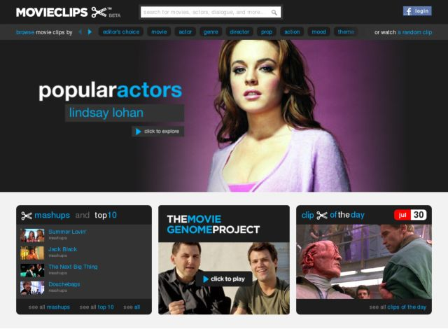 Movie clips and movie scenes at movieclips.com