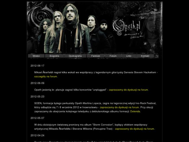 Polish Opeth fansite
