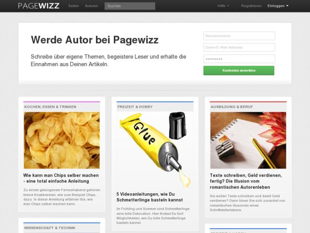 PageWizz.com - The community for free authors and readers