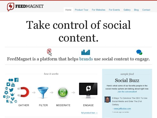 screenshot of FeedMagnet