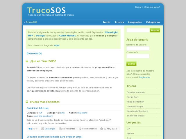screenshot of TrucoSOS