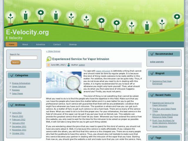 e-velocity weblog