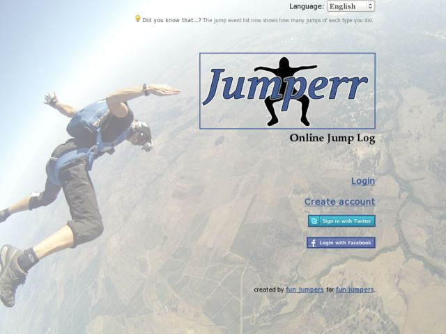 Jumperr - Your online jump log