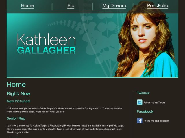 screenshot of Kathleen The Model