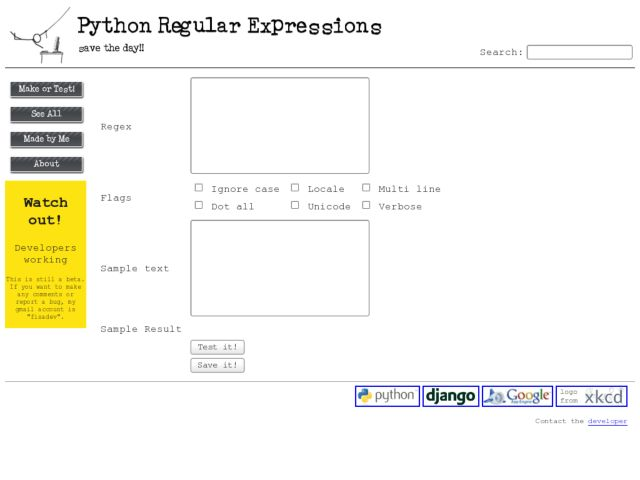 screenshot of Python Regular Expressions