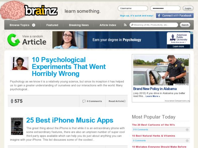 screenshot of Brainz