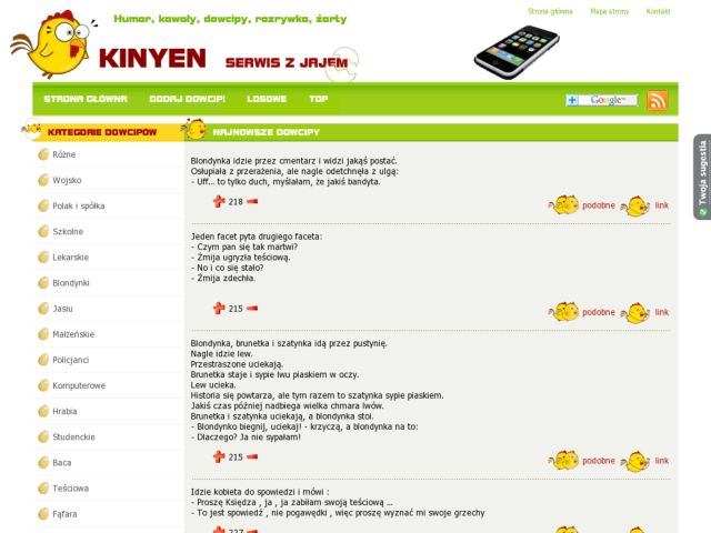 screenshot of Kinyen.pl