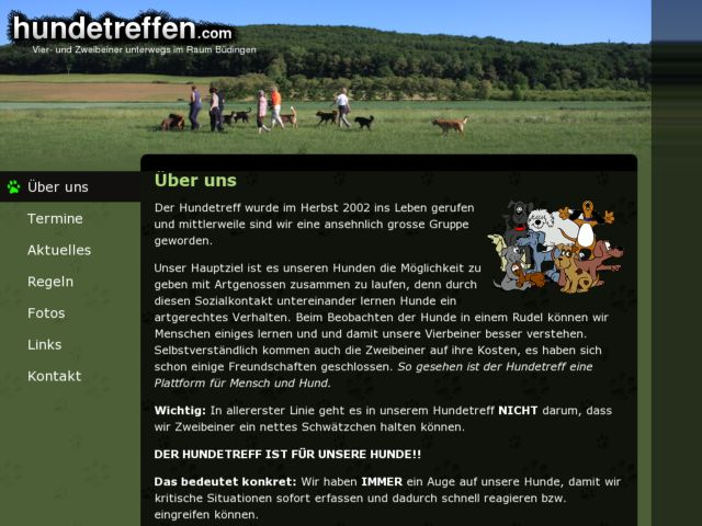 screenshot of Hundetreffen
