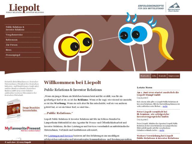 Peter Liepolt : public relations & investor relations