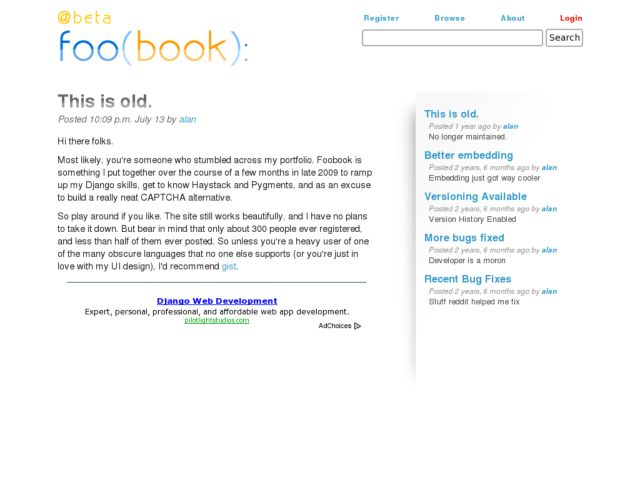 screenshot of foo(book):