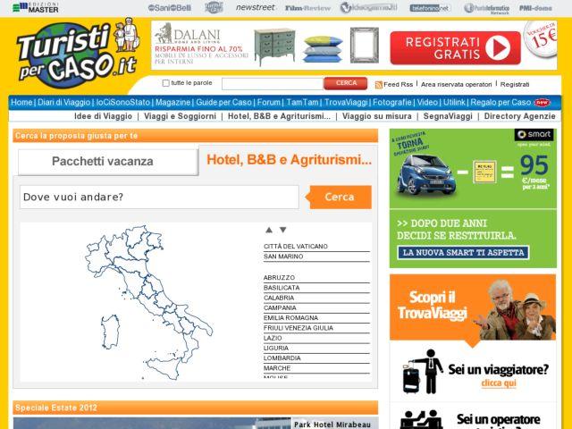 screenshot of Trovaviaggi