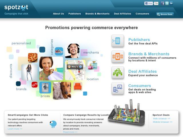 screenshot of Spotzot