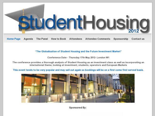 screenshot of Student Housing 2010