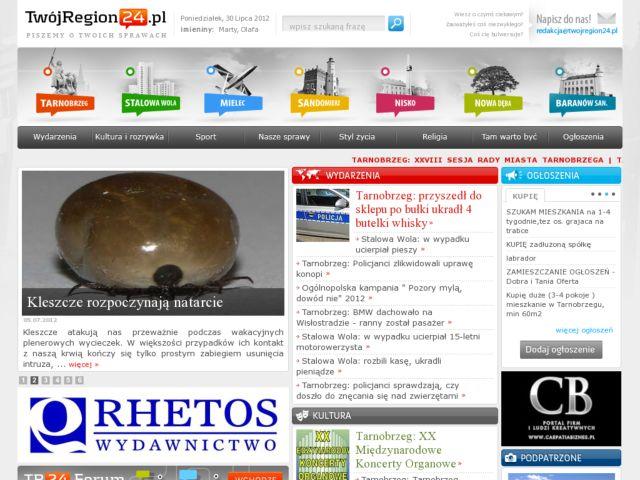 screenshot of TwojRegion24.pl