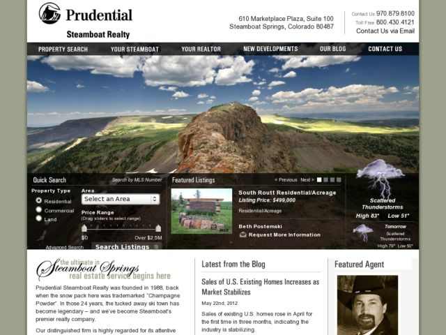 screenshot of Prudential Steamboat Realty