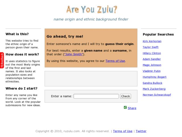 Are You Zulu? - Name Origin and Ethnic Background Finder
