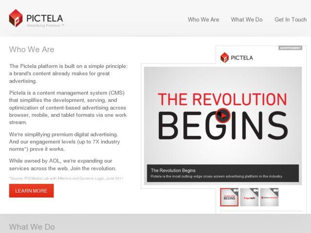 screenshot of Pictela