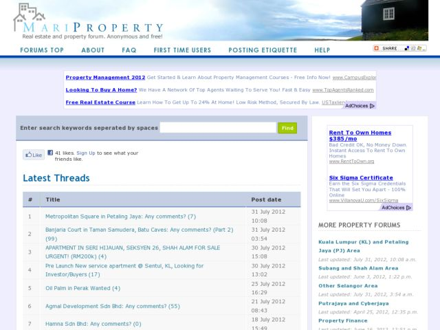 Property and Real Estate Forum for Malaysia - mariproperty.com