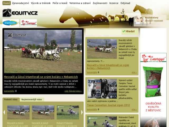EquiTV - Czech web TV about horses and people