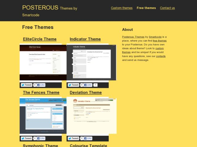 screenshot of Free posterous themes