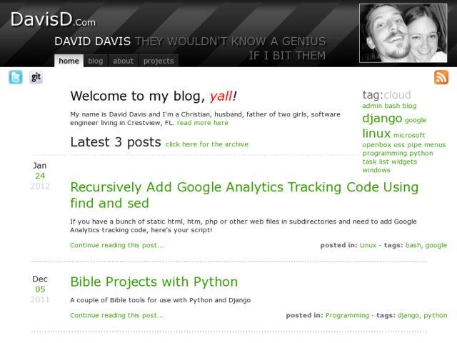 David Davis blog, yall