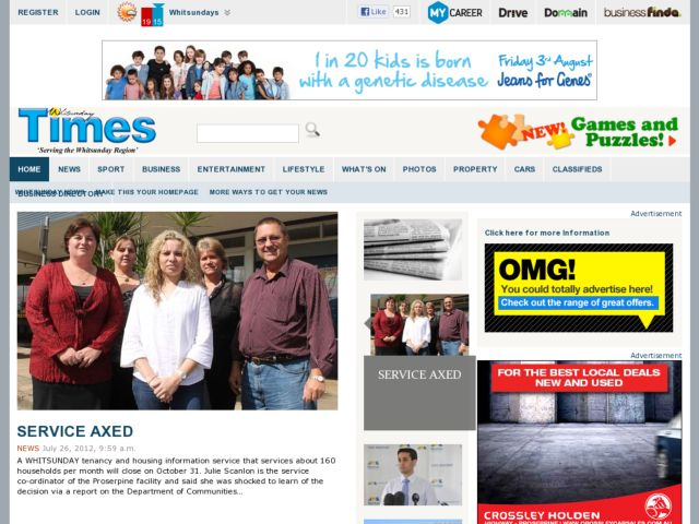 screenshot of Whitsunday Times