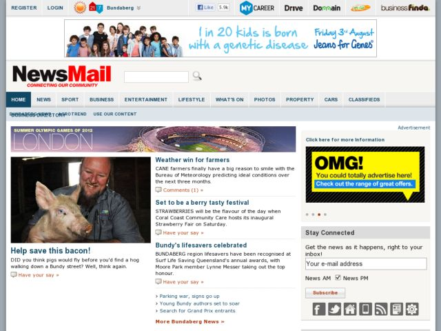 screenshot of News Mail