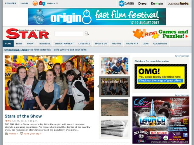 screenshot of Gatton Star