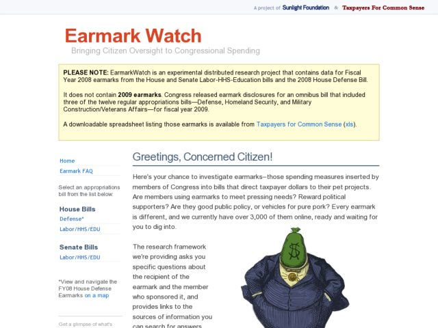 screenshot of Earmark Watch