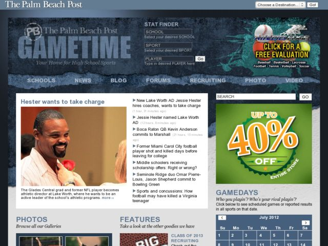 screenshot of PBGametime