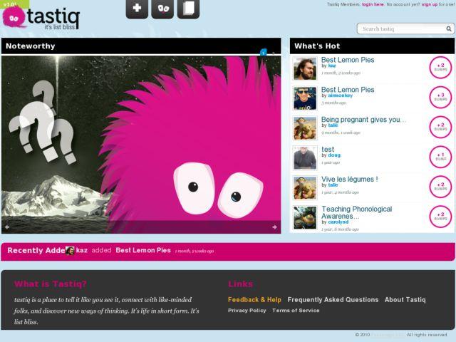 screenshot of Tastiq