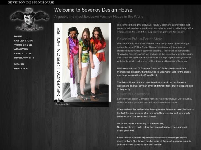 screenshot of Sevenov Design House