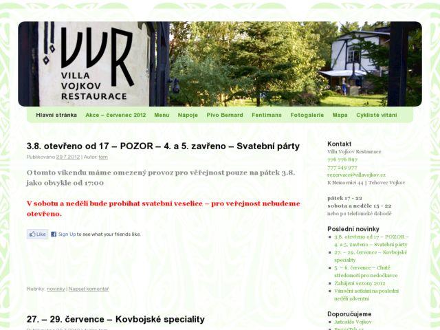 screenshot of Villa Vojkov