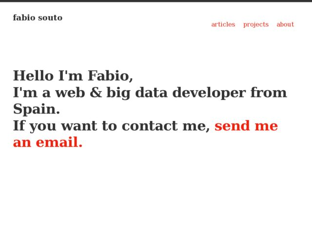 screenshot of fabiosouto.me