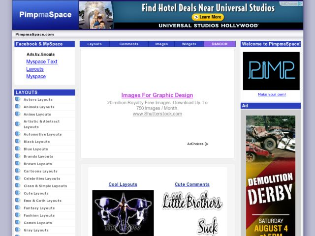 Myspace Layouts - Pimp Ma Space